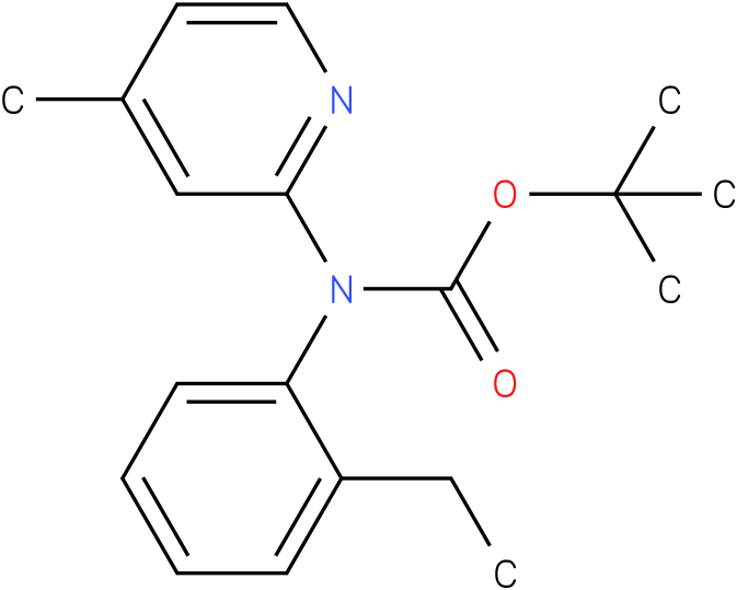 (2-Ethyl-phenyl)-(4-methyl-pyridin-2-yl)-carbamic acid tert-butyl ester