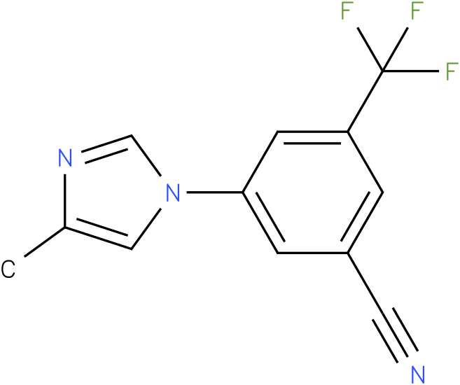 -(4-Methyl-1H-imidazol-1-yl)-5-(trifluoromethyl)benzonitrile