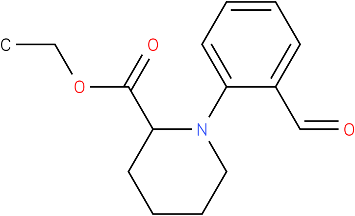 1-(2-formyl-phenyl)-piperidine-2-carboxylic acid ethyl ester
