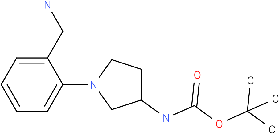 [1-(2-aminomethyl-phenyl)-pyrrolidin-3-yl]-carbamic acid tert-butyl ester